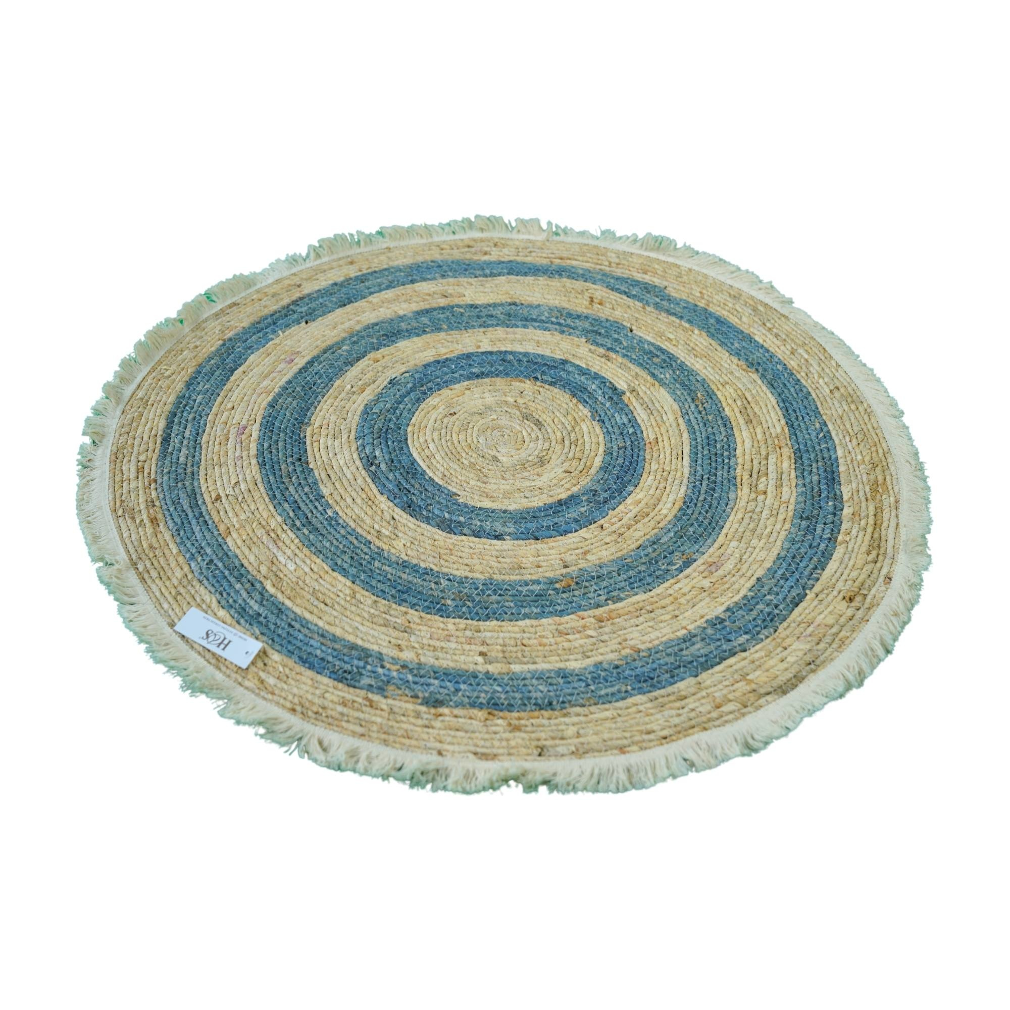 tapis rond 80 cm tresse