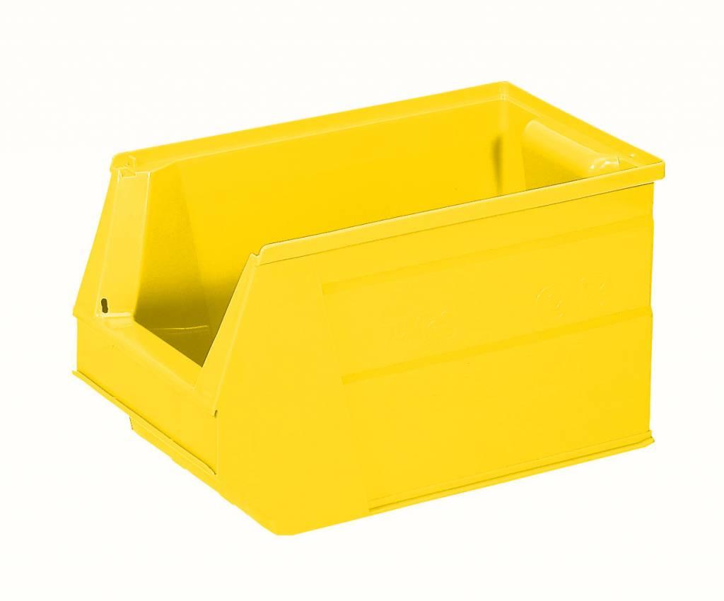 bac a bec plastique 350x210x200 mm 13l jaune