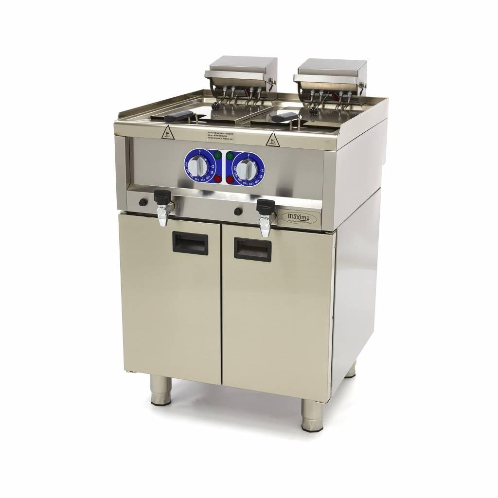 commercial grade fryer 2 x 10l electric 60 x 60 cm with faucet