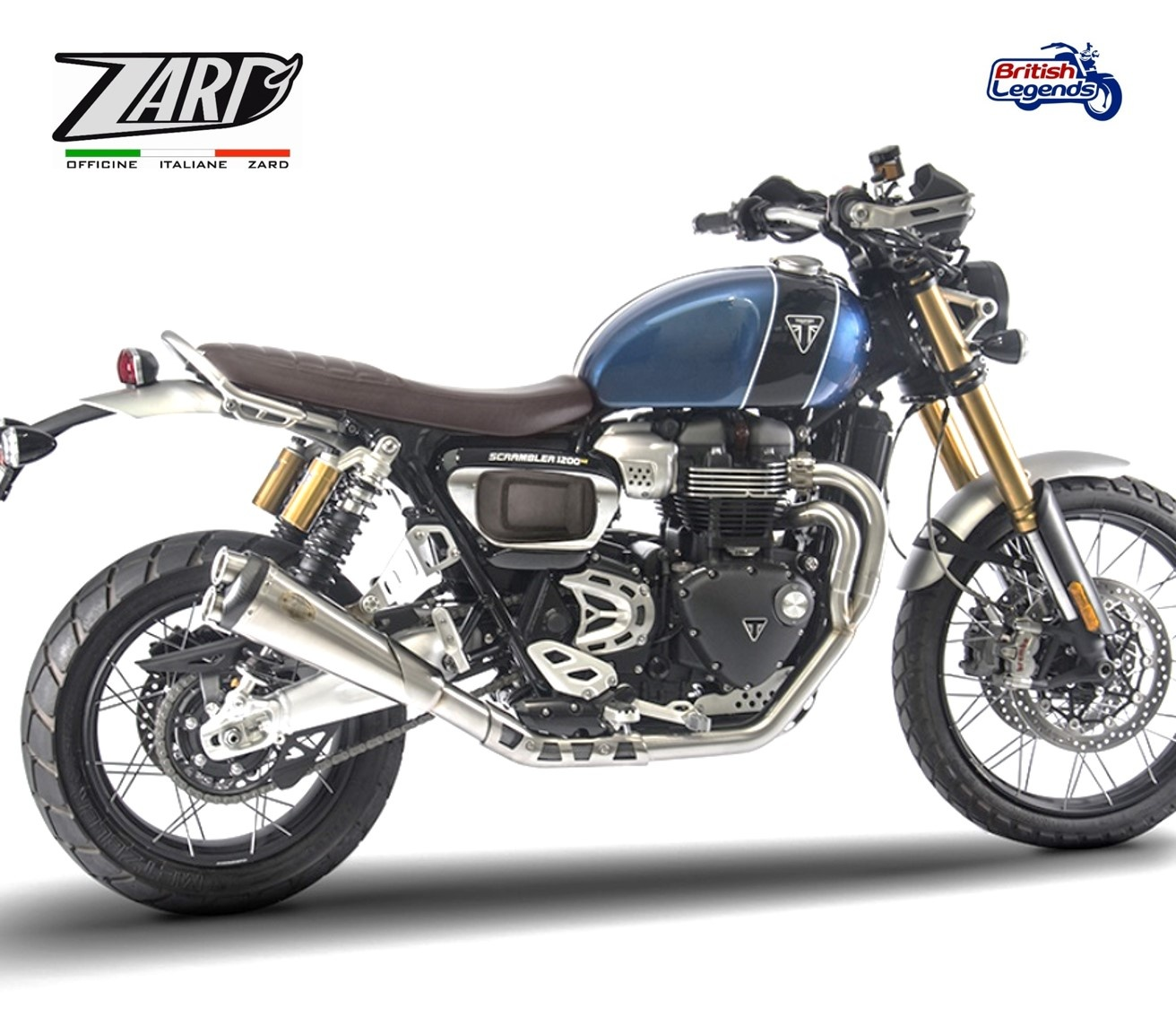 zard exhaust system for triumph