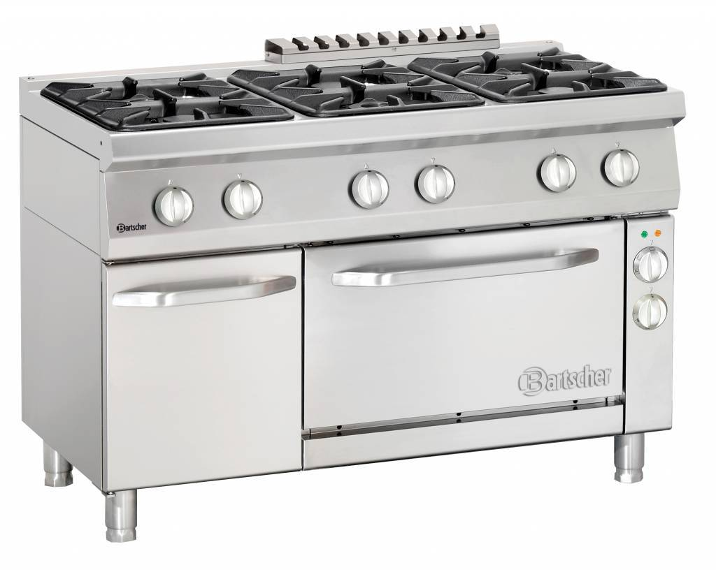 Gas Stove 6 Burners With Electric Air Circulating Oven 1