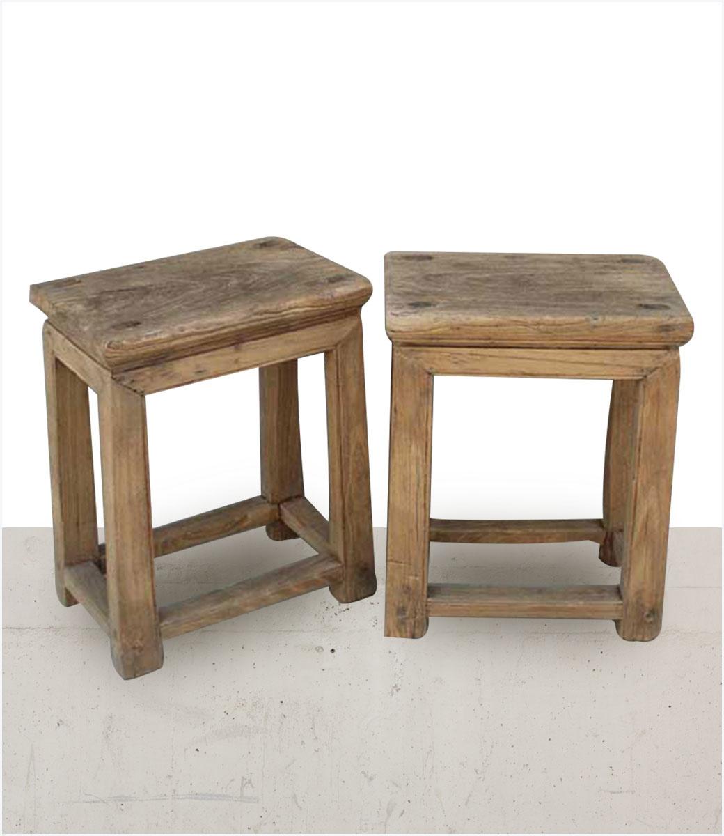 petite lily interiors raw wood side table elm wood 40x26xh50cm unique item