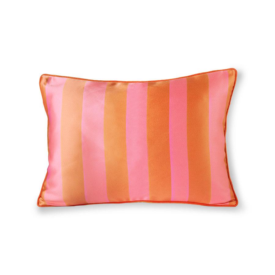 satin velvet cushion orange pink