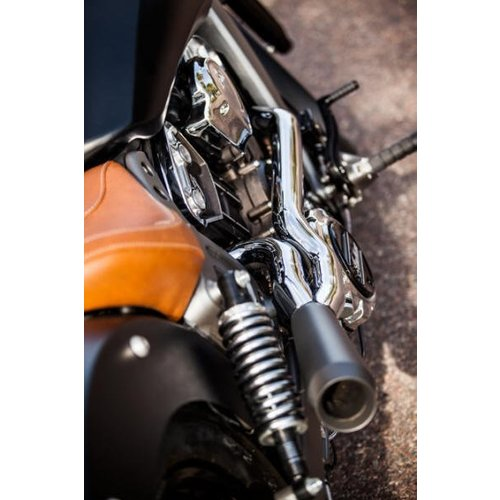 black exhaust system indian scout