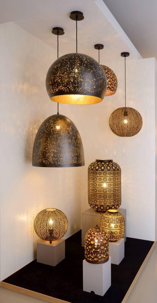moroccan style pendant light black gold 38 5cm o e27