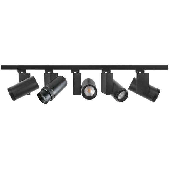 flexible track lighting white or black led