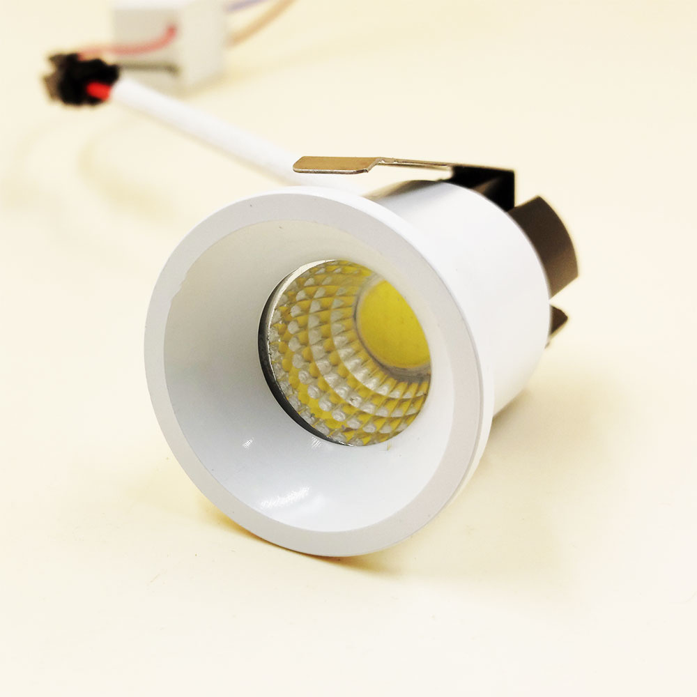 mini spot led encastrable interieur 3w 35 mm o blanc ou noir