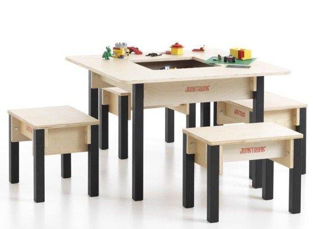 table enfant avec rangement carree