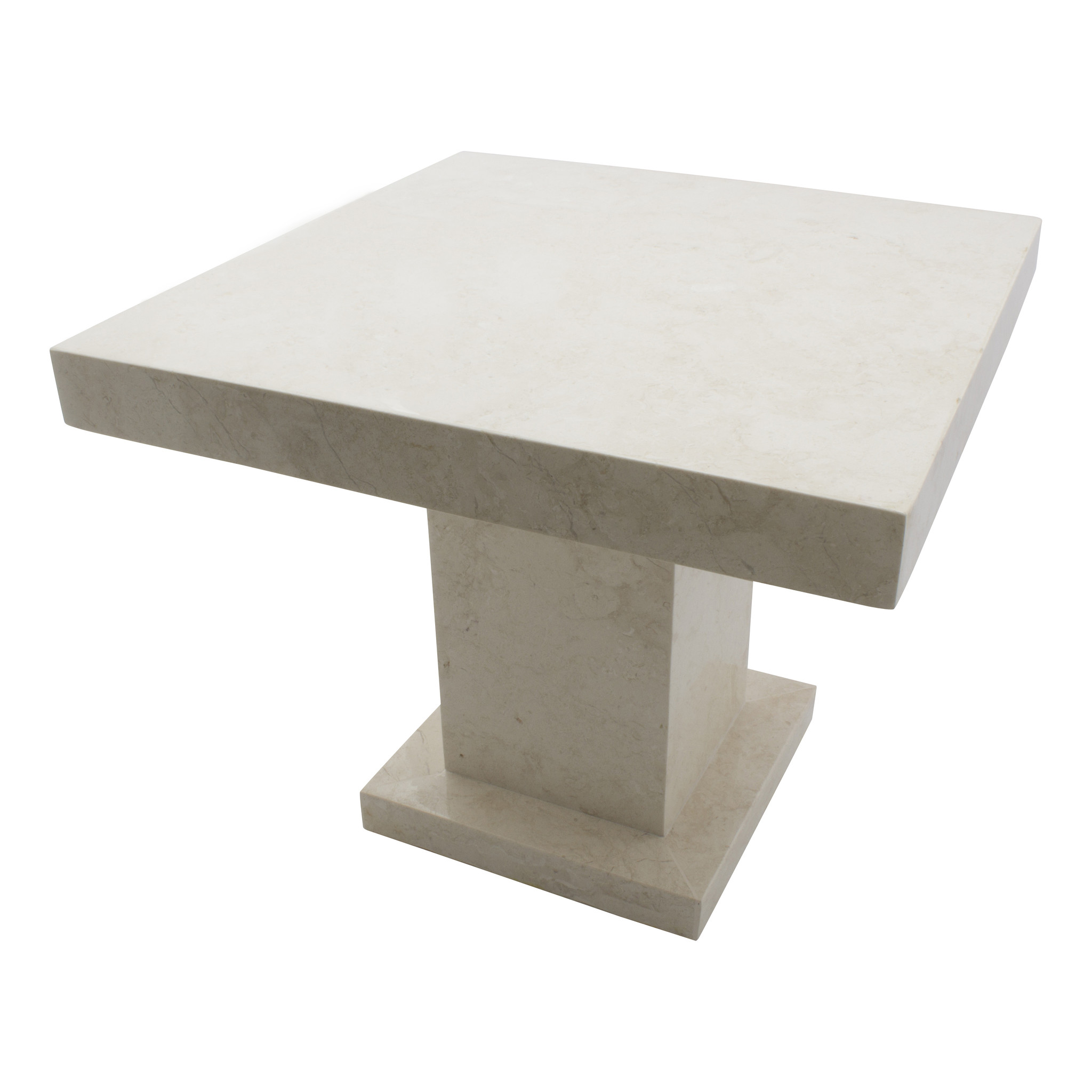 side table square 50x50x40 cm cream