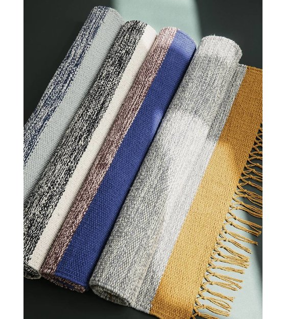 ferm living tapis gris chine coton jaune 60x100cm
