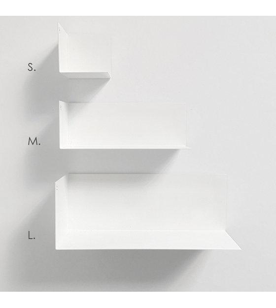 groovy magnets etagere murale magnetique en metal blanc l 30x11x11cm