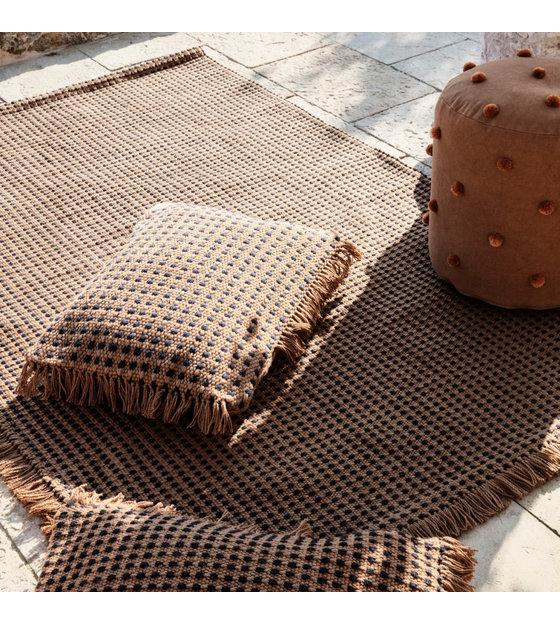 ferm living tapis way textile marron 140x200cm