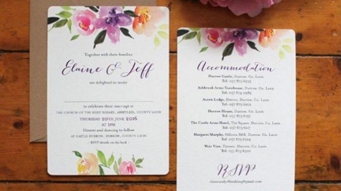 Navy Blush Custom Wedding Invitation
