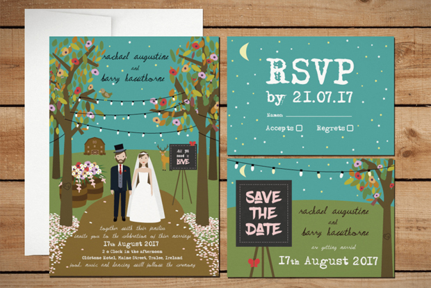 20 Pretty Personalised Wedding Invitations Weddingsonline