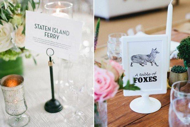 40 Creative Wedding Table Name Ideas | weddingsonline