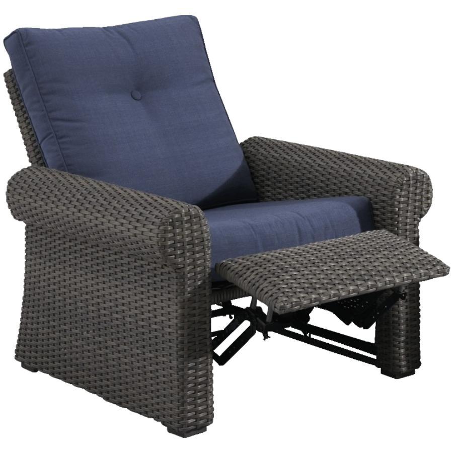 boulder creek wicker reclining chair