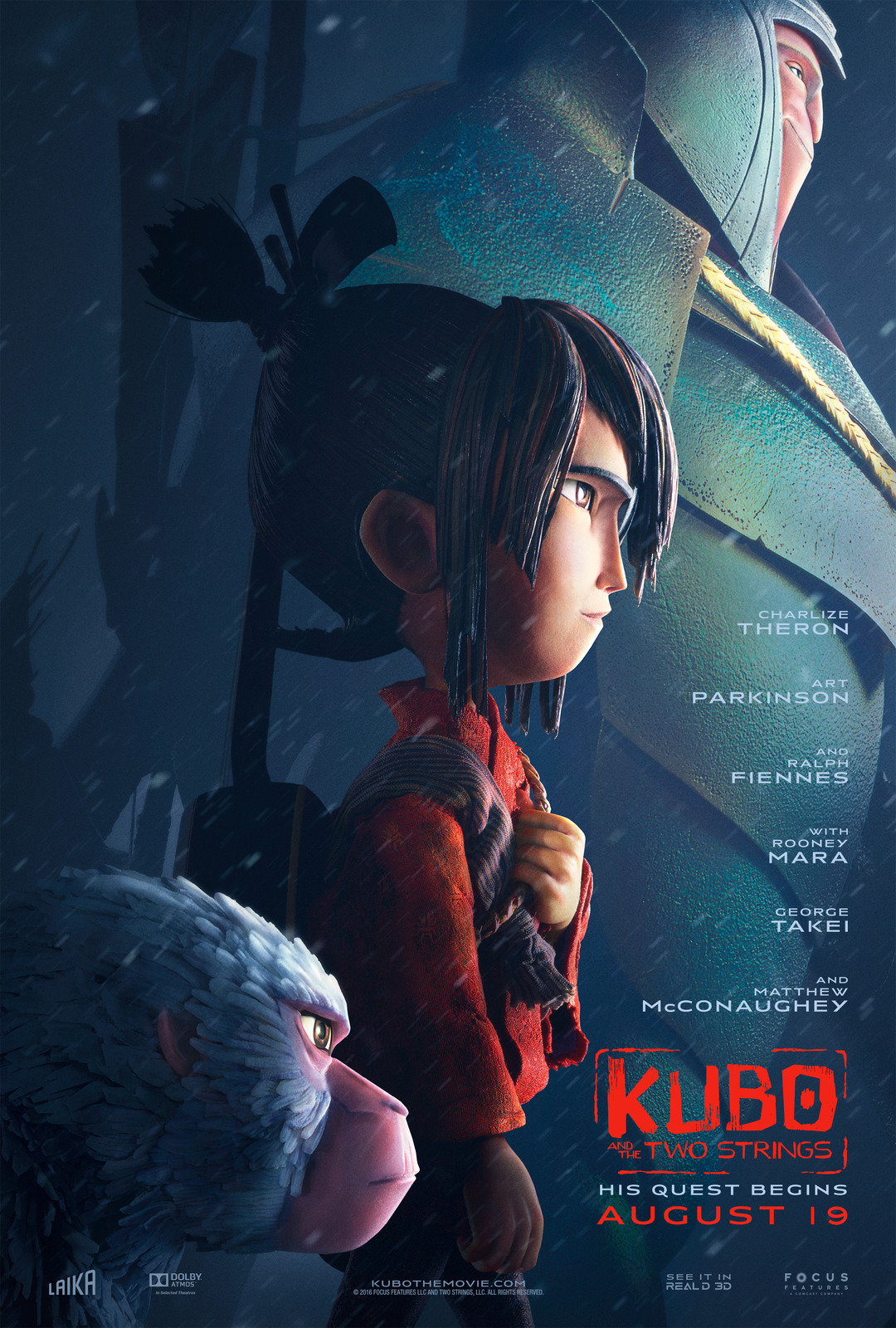 Image result for kubo and the two strings poster