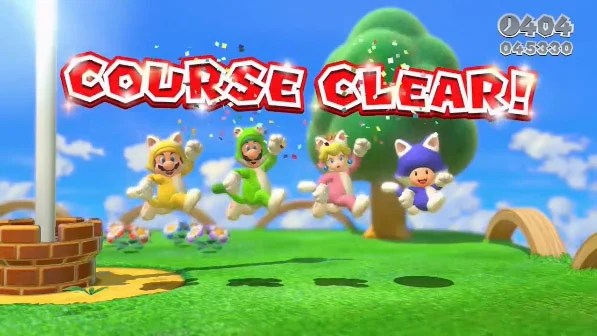 Screen shot from Super Mario 3D World