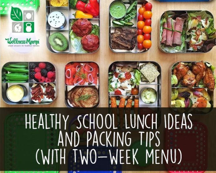Healthy School Lunch Ideas and Packing Tips with Two-Week Menu Plan
