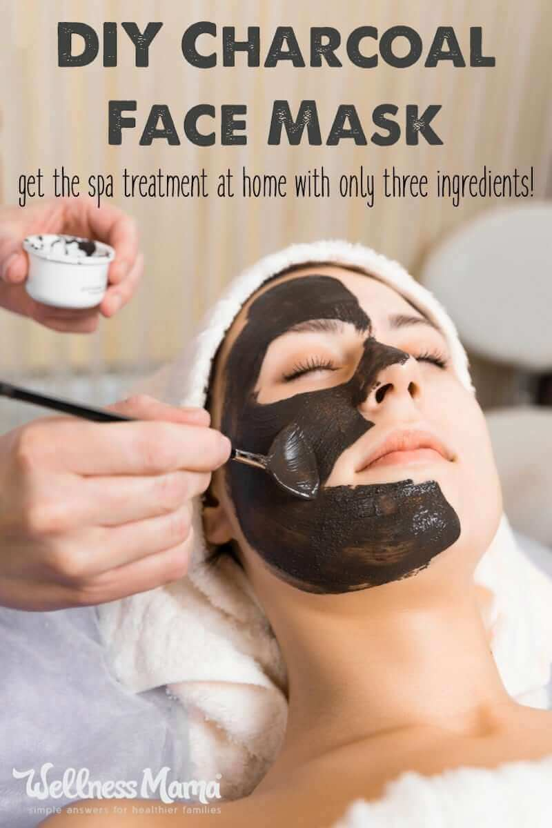DIY Charcoal Face Mask Recipe Only 3 Ingredients