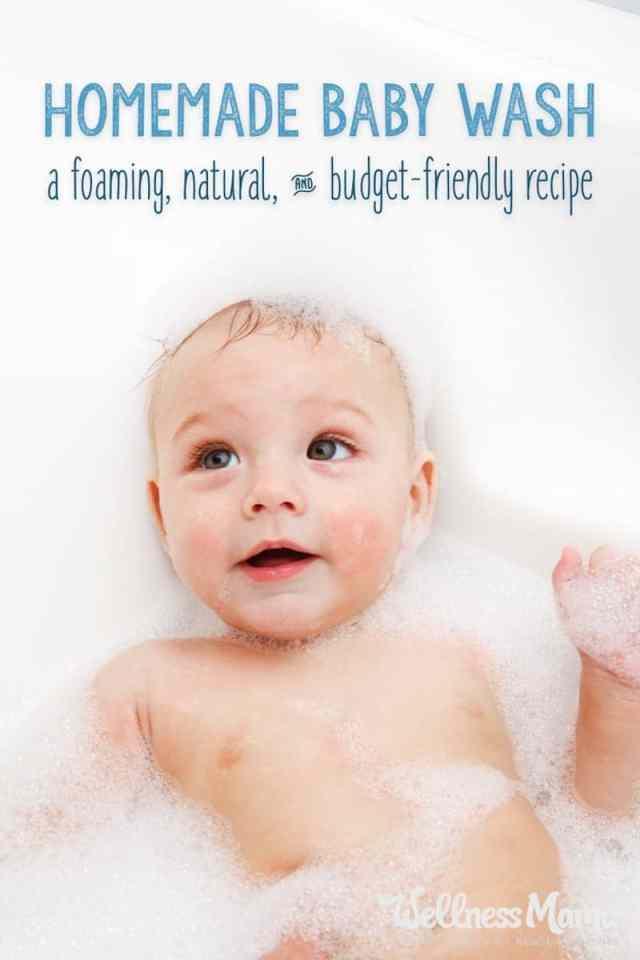 Natural foaming baby wash recipe
