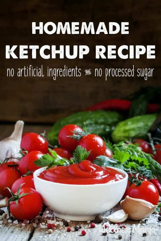 My kids love ketchup and I don't love the ingredients so we make our own ketchup recipe with tomatoes, vinegar, onion, honey and spices.