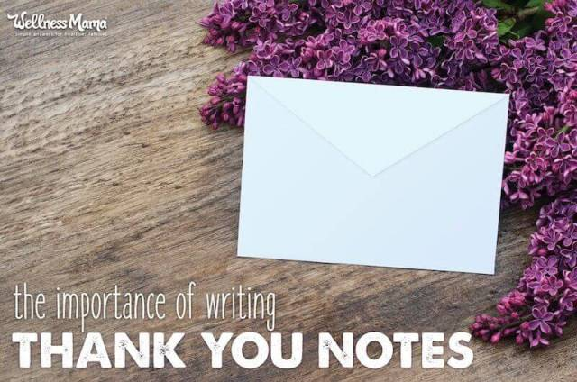 The importance of writing thank you notes