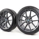 Bmw Summer Wheels 3er F30 F31 4er F32 F33 F36 19 Zoll 442m Double Spoke Orbit Grey Glanzgedreht