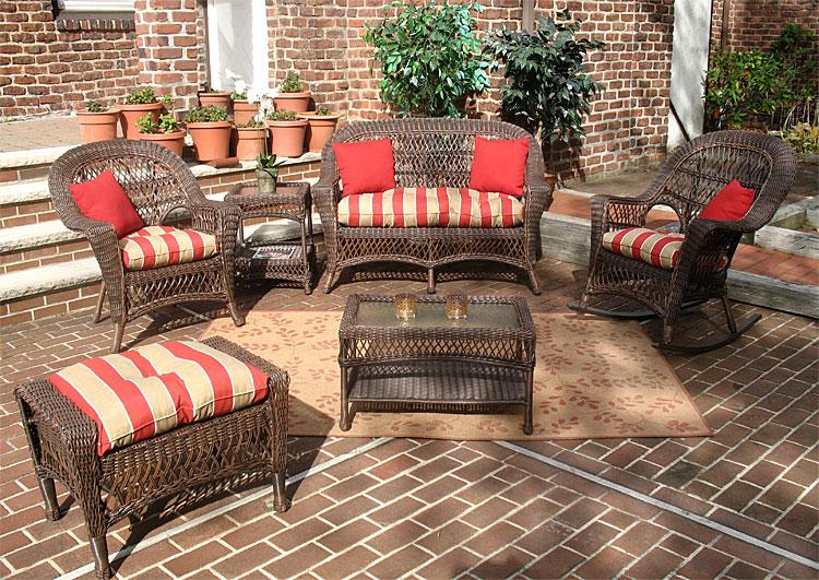 wicker rustic brown madrid outdoor