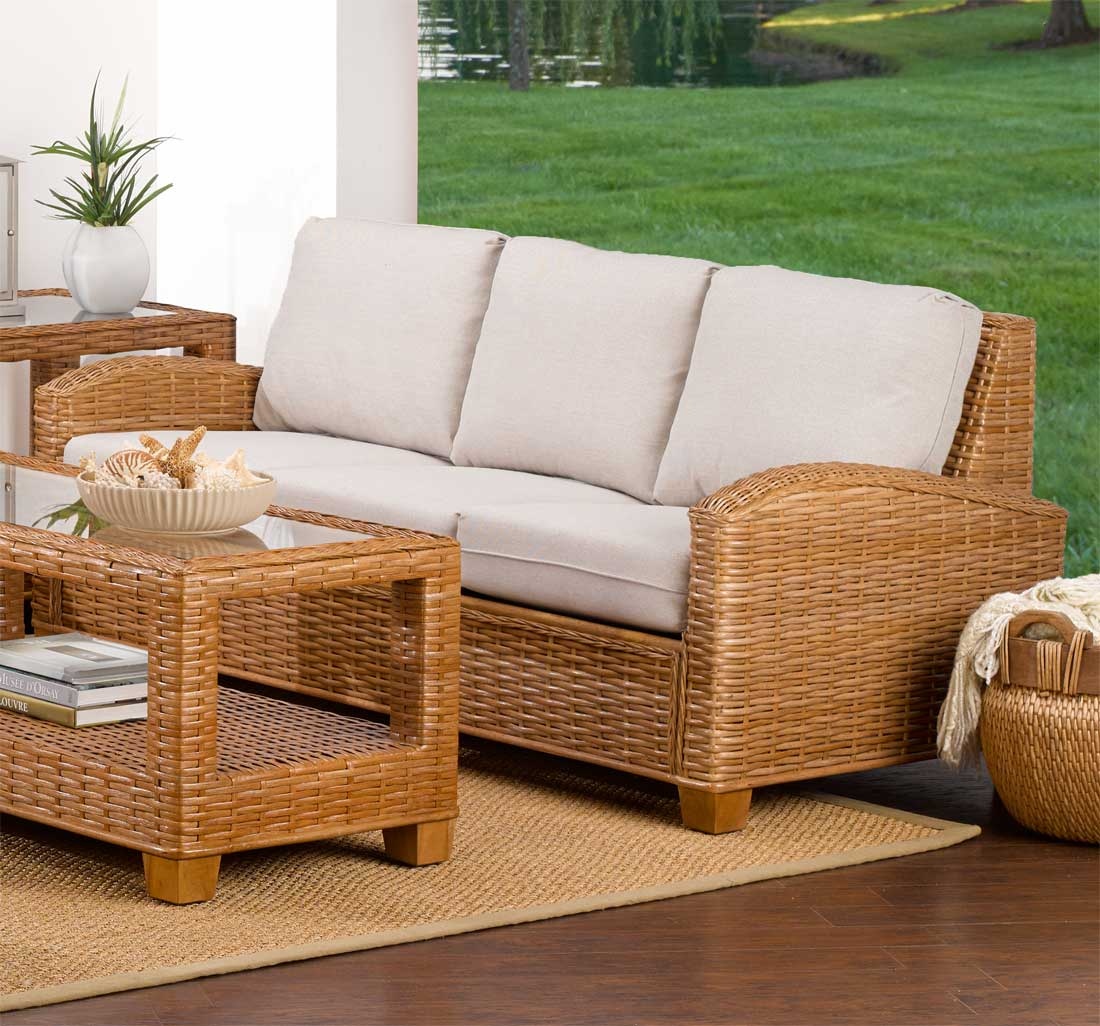 Modern design bamboo sofa set for bamboo furniture pictures & photos. Millennial Natural Rattan Sofa (Custom Finishes Available)