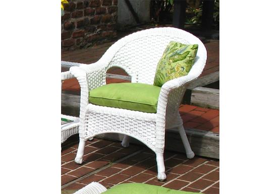 veranda resin wicker chair with cushion