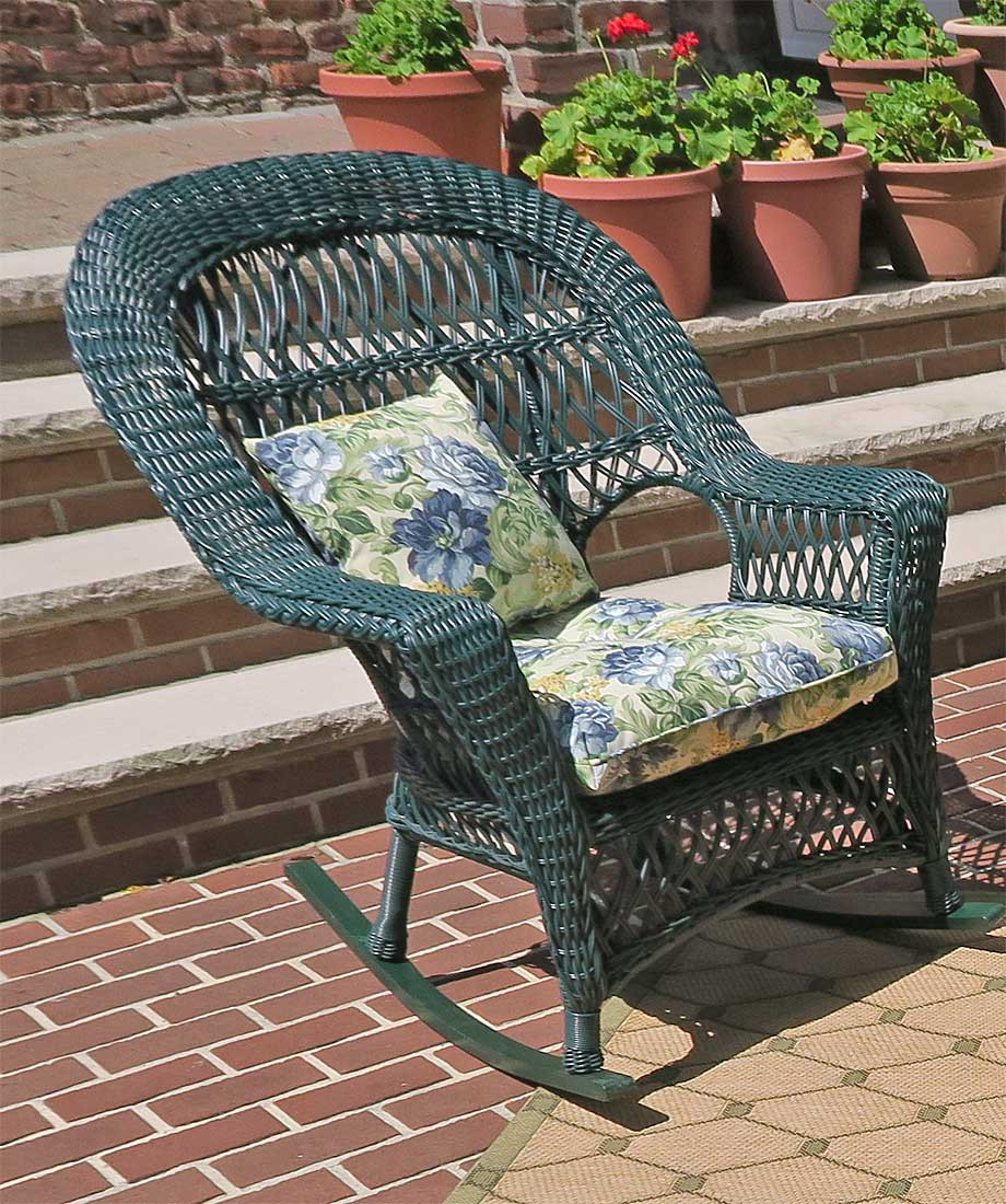 madrid resin wicker rocking chairs hunter green