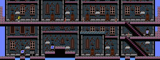 Castlevania Simons Quest Map