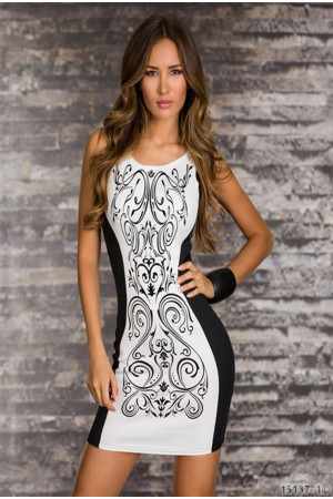 V235D Rochie sexy cu print abstract