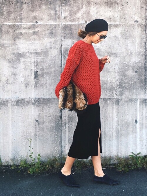 mariko のスカート「WOMEN メリノブレンドリブスカート」を使ったコーディネート