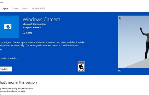 Windows Camera App for Windows 10 Squashes Some Bugs