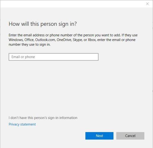 Windows key shortcuts not working choose account