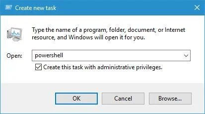 Windows key not working after update run powershell