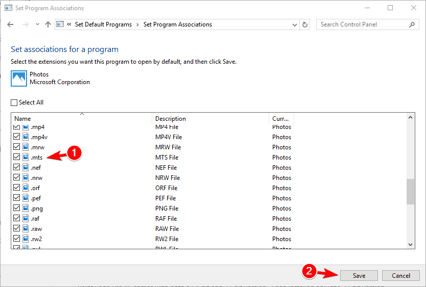 set associations for a program png thumbnails not showing windows 10