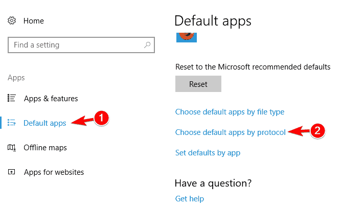 choose default apps by protocol some thumbnails not showing windows 10