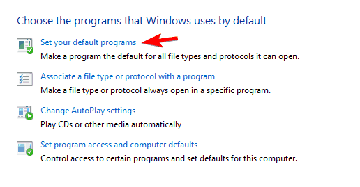 set your default programs Thumbnail previews not showing