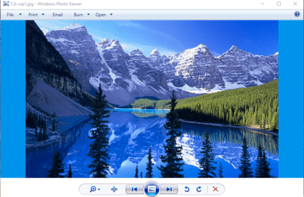 How to open the Windows 7 Photo Viewer on Windows 10