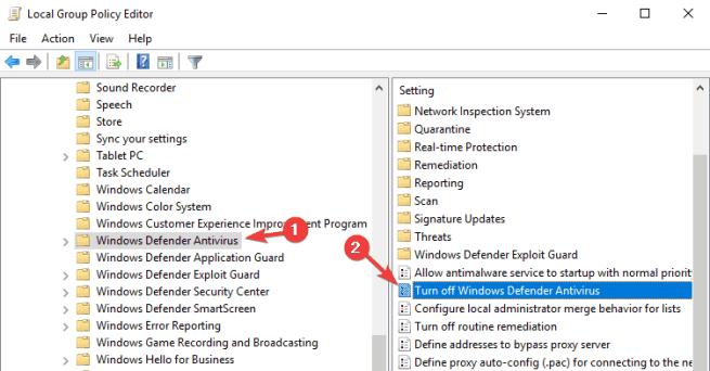 Windows Defender won't turn on Windows 10 Spybot