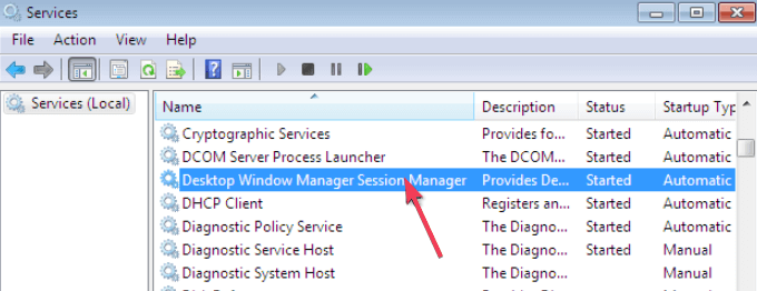 Windows Manager Session Manager