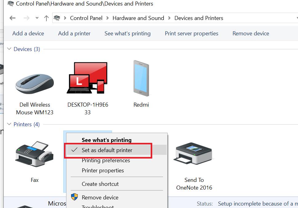 my printer not showing in adobe reader