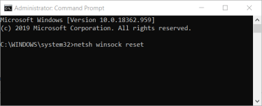 winsock reset command