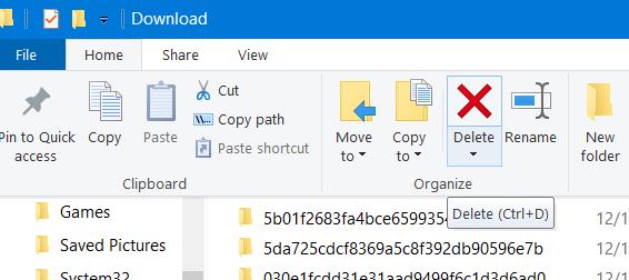 Delete button windows update code 800b0100