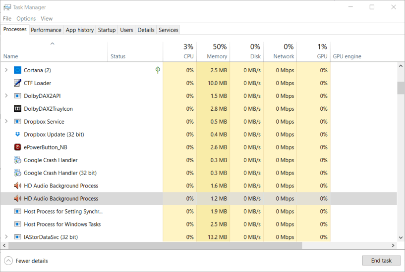 Task Manager window mouse lag black ops cold war