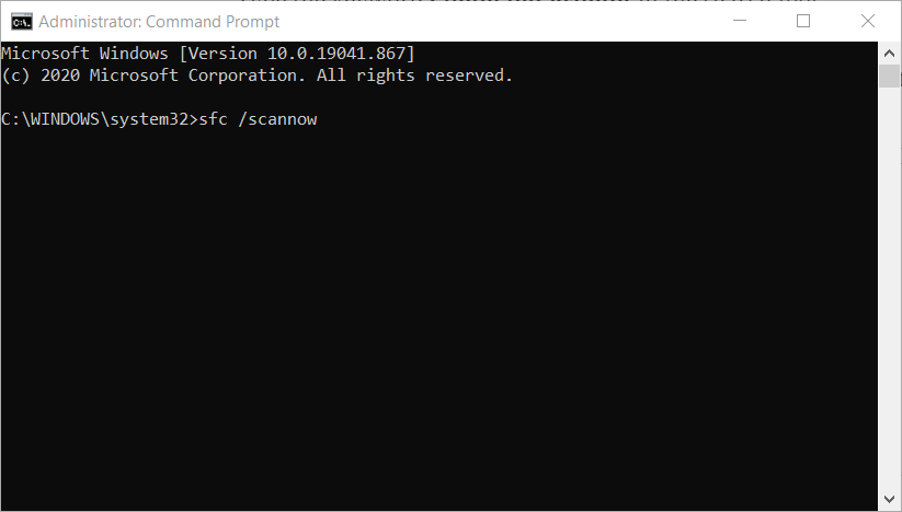 System File Checker command acgenral.dll
