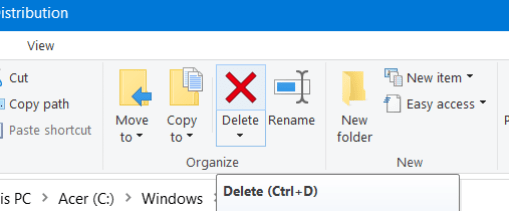 The Delete option windows could not search for new updates 80072efe